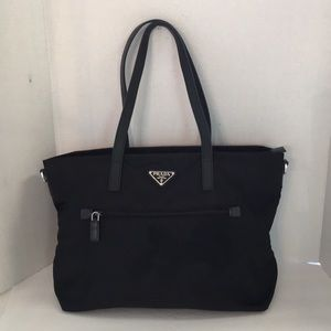 Prada large nylon Front pocket tote bag